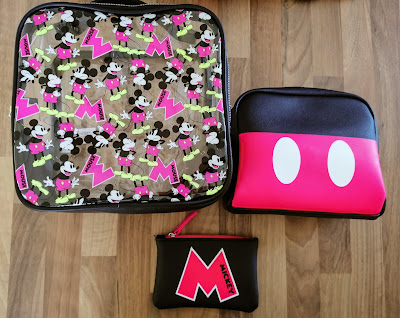 Set of 3 Mickey Mouse themed cosmetics bags