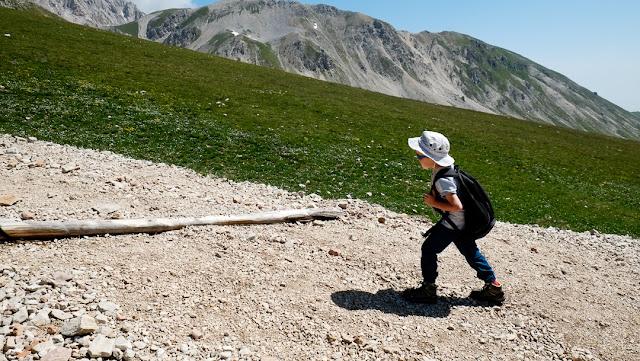 Camminata su di un sentiero di montagna