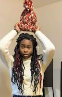 Modeling knit beanie