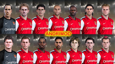 PES 2021 Classic FacePack Arsenal by Andri Mod