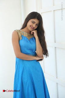Telugu Actress Akshita (Pallavi Naidu) Latest Stills in Blue Long Dress at Inkenti Nuvve Cheppu Movie Promotions  0029.jpg