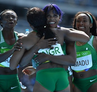 RIO Olympics: Okagbare Leads Nigeria To Relay Final As 'almight' US Crashes Out