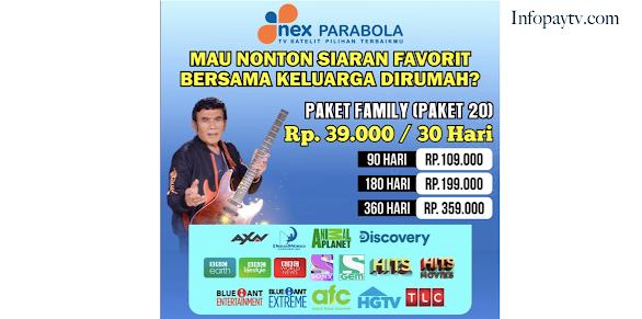 Paket Family Nex Parabola Terbaru