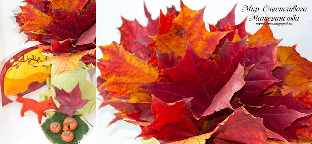 красные листья клена