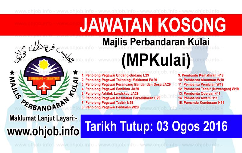 Jawatan Kerja Kosong Majlis Perbandaran Kulai (MPKulai) logo www.ohjob.info ogos 2016