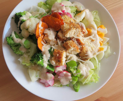 Almost Fried Chicken Chopped Salad