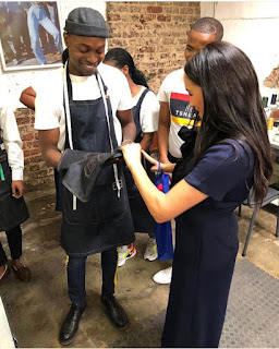 Duchess of Sussex collects custom made Jeans for her and Archie in Joburg