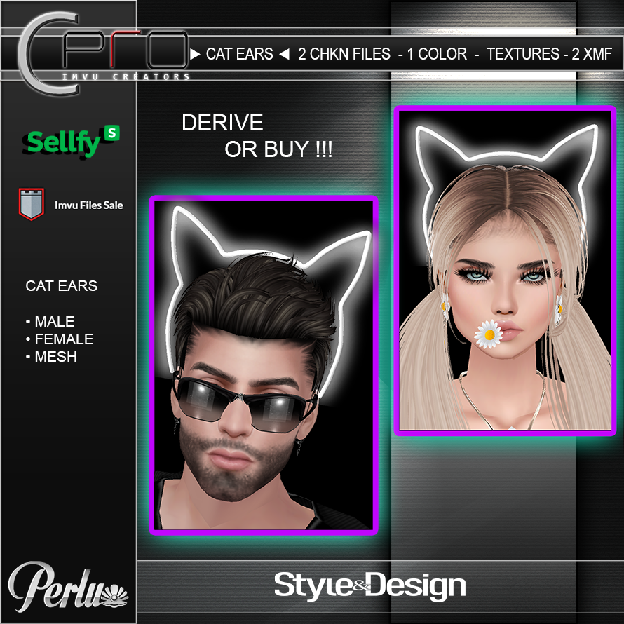 NEON CAT EARS - DERIVE OR BUY - PERLU SHOP - IMVU C-PRO