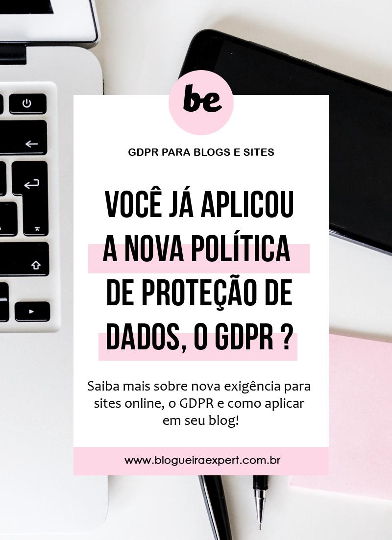 O que é GDPR e como configurar no Blog ?