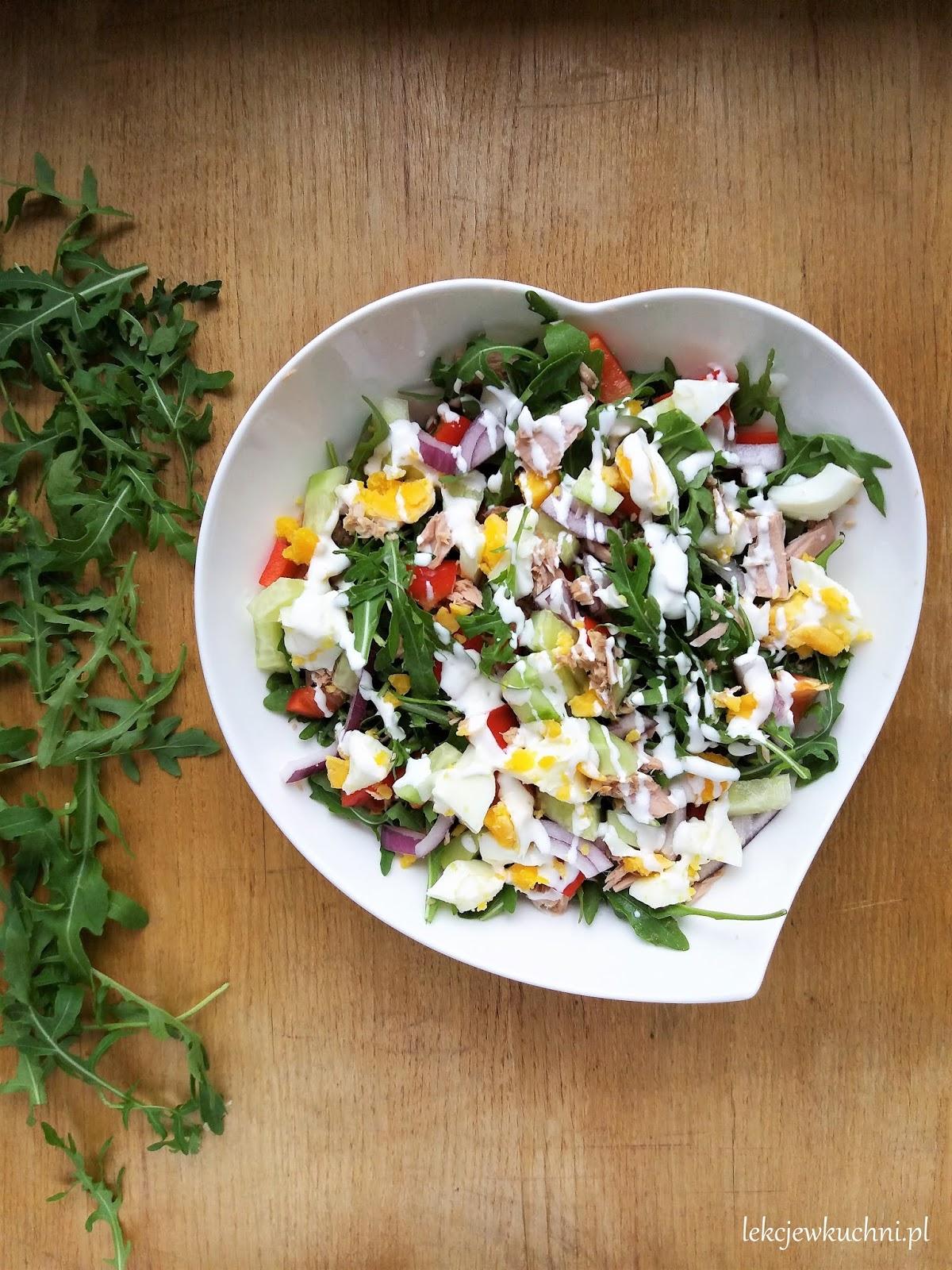 Szybka Salatka Z Tunczykiem I Rukola Quick Tuna And Arugula Salad Lekcje W Kuchni