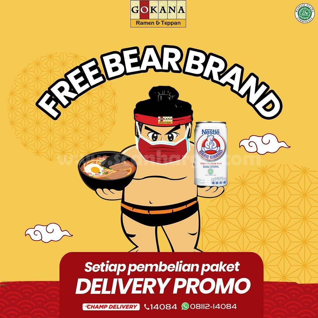 Promo GOKANA GRATIS BEAR BRAND (Khusus Setiap Pembelian Paket Delivery)