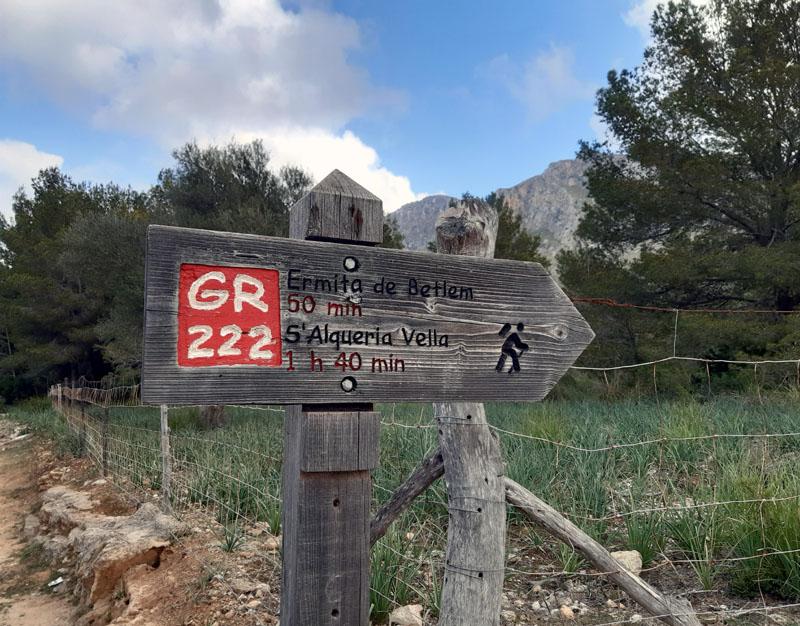 GR222 verso Ermita de Betlém -Mallorca