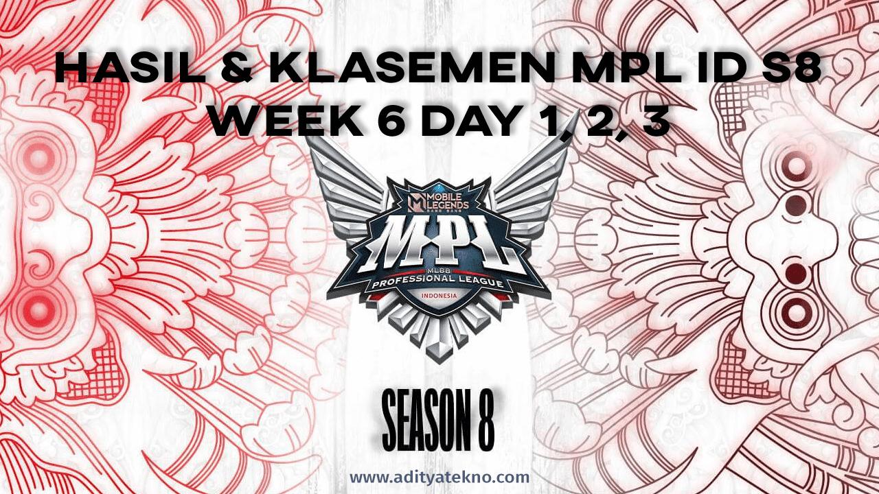 Hasil dan Klasemen MPL ID Season 8 Week 6: AE Masihh Tak Terkalahkan, RRQ Posisi Kedua