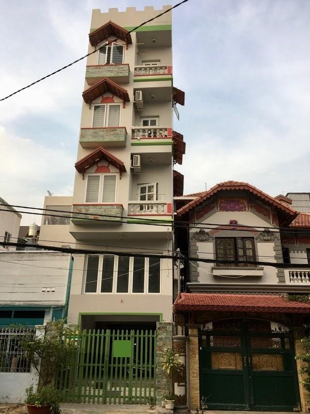 Nhà mặt tiền đường số phường Tân Kiểng: 5 tầng + sân thượng