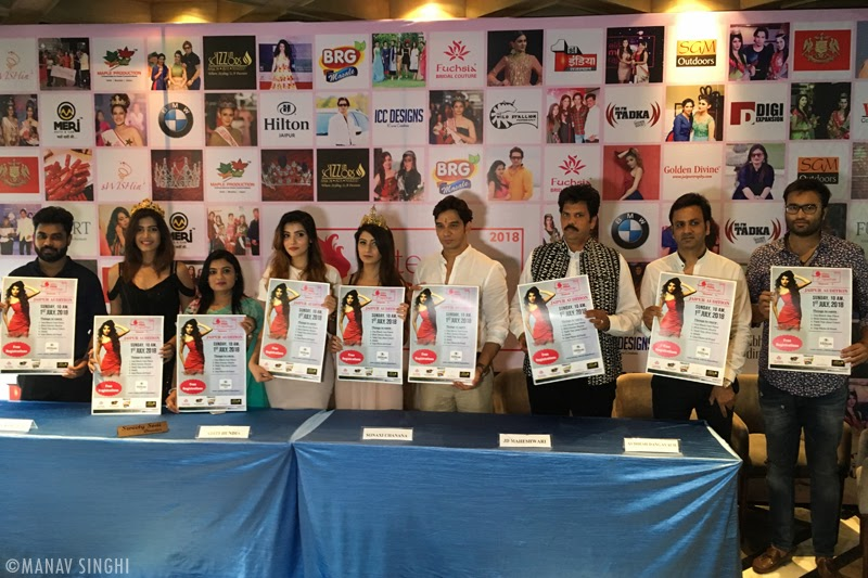 Team Members launched the poster of Elite Miss Rajasthan 2018.