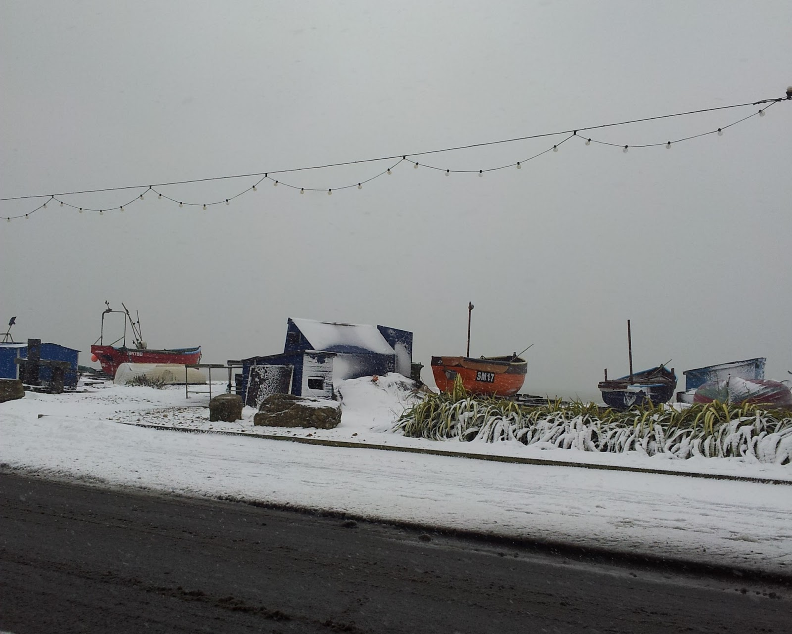 Worthing seafront in the snow