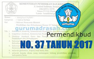 Permendikbud No 37 Tahun 2017