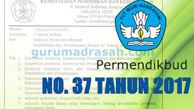 Permendikbud No 37 Tahun 2017 Tentang Sertifikasi Guru Dalam Jabatan