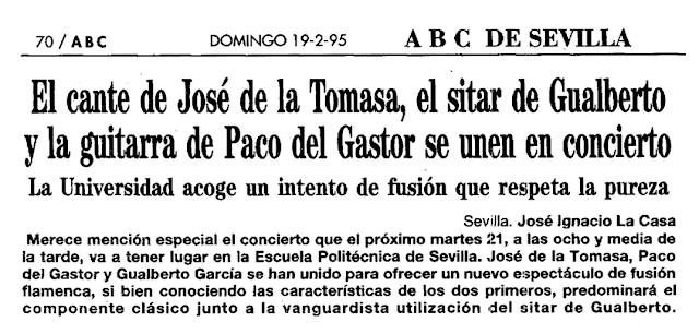 PACO GASTOR JOSÉ TOMASA GUALBERTO