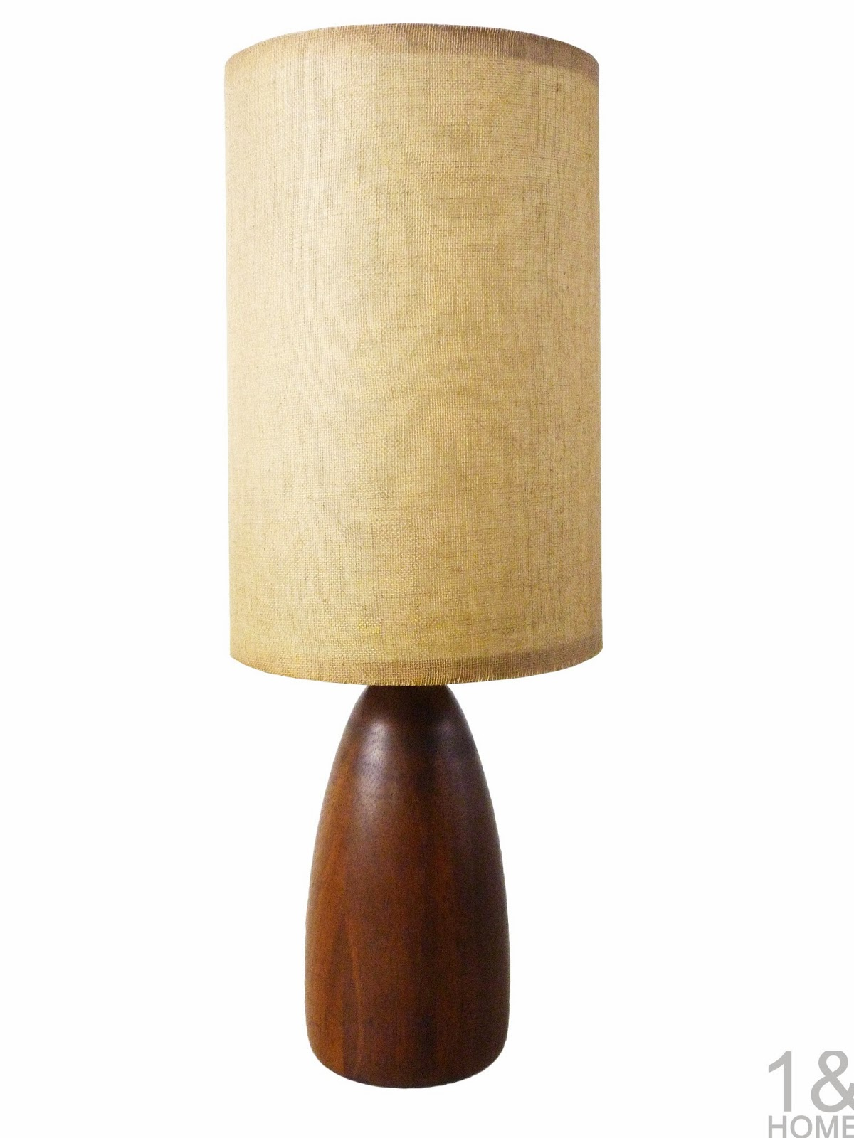 Danish Modern Turned Teak Table Lamp