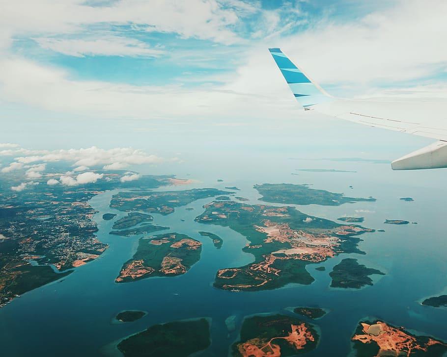 Foto kepulauan Riau dilihat dari atas