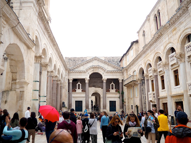 Peristyle Square, Diocletian's Palace, Split, Croatia
