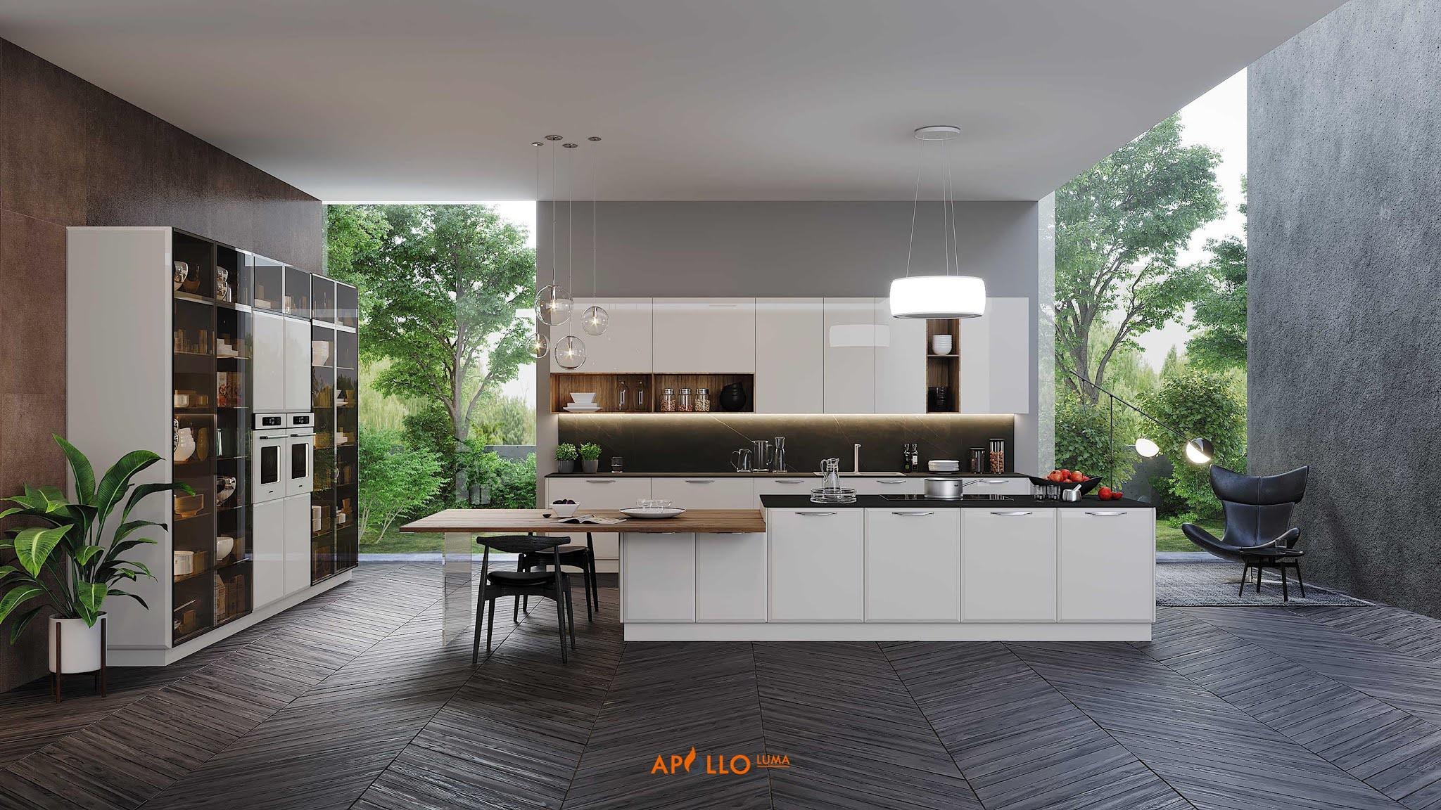 Thiết kế phòng bếp biệt thự nhà vườn tại Sóc Sơn - Hà Nội