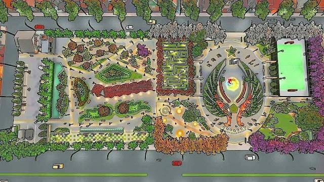 Ini dia Arti Nyawiji Park, Taman Baru Kota Kabupaten Nganjuk
