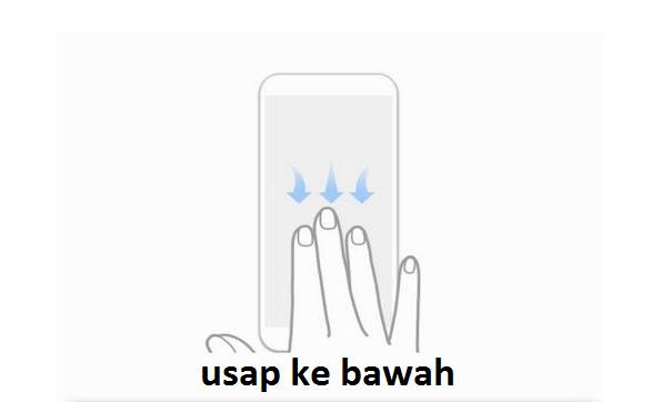 cara screenshot hp oppo dengan 3 jari