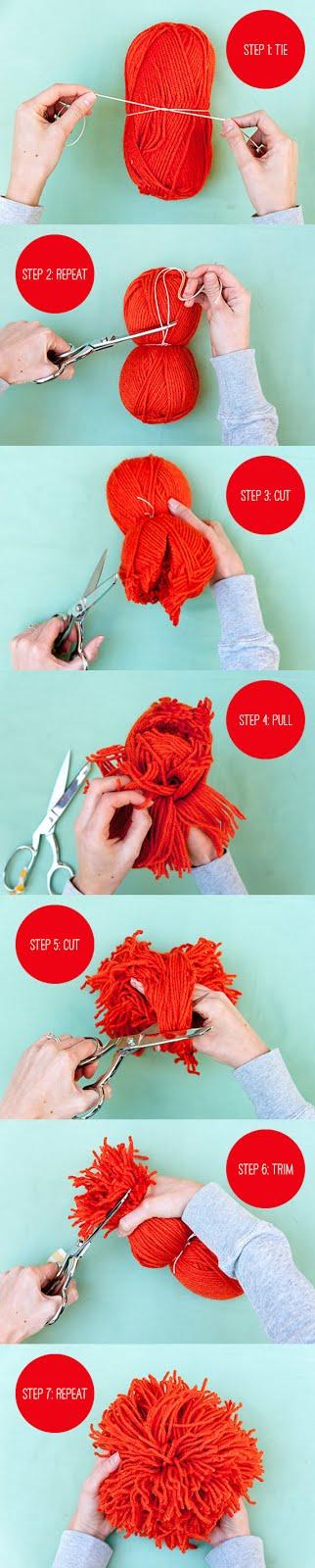 Como hacer un pompom gigante