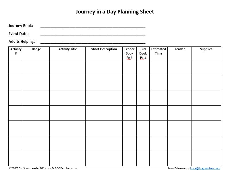 time plan sheet