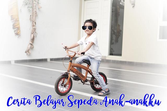 Anak belajar bersepeda aman berkat Hansaplast Spray Antiseptik