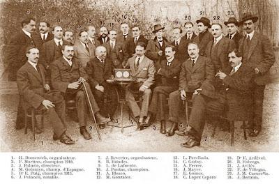 Campeonato de Catalunya-1914, ajedrecistas participantes