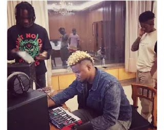 Tiwa Savage Shares Photo After Visiting Naira Marley And Rexxie In The Studio