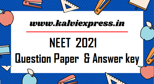 NEET  2021 Answer key