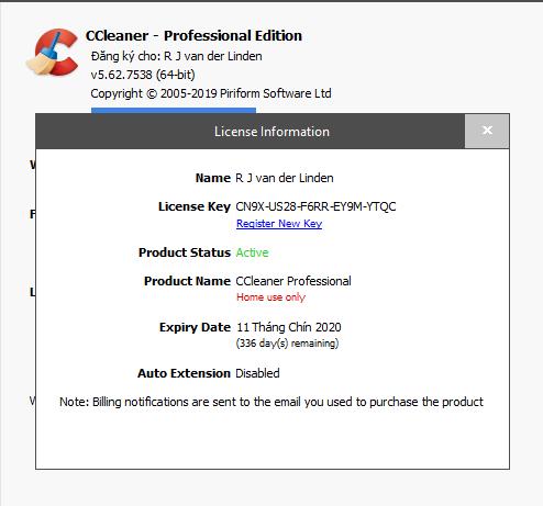 Chia sẻ key CCleaner 2020 - dọn rác chuyên nghiệp