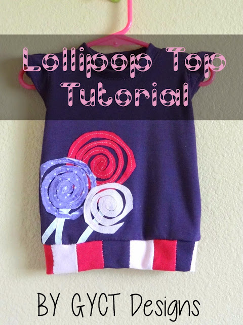 Girls tee with lollipop applique