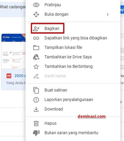 Cara Sharing Membuat Link Kirim File Di Google Drive 2021