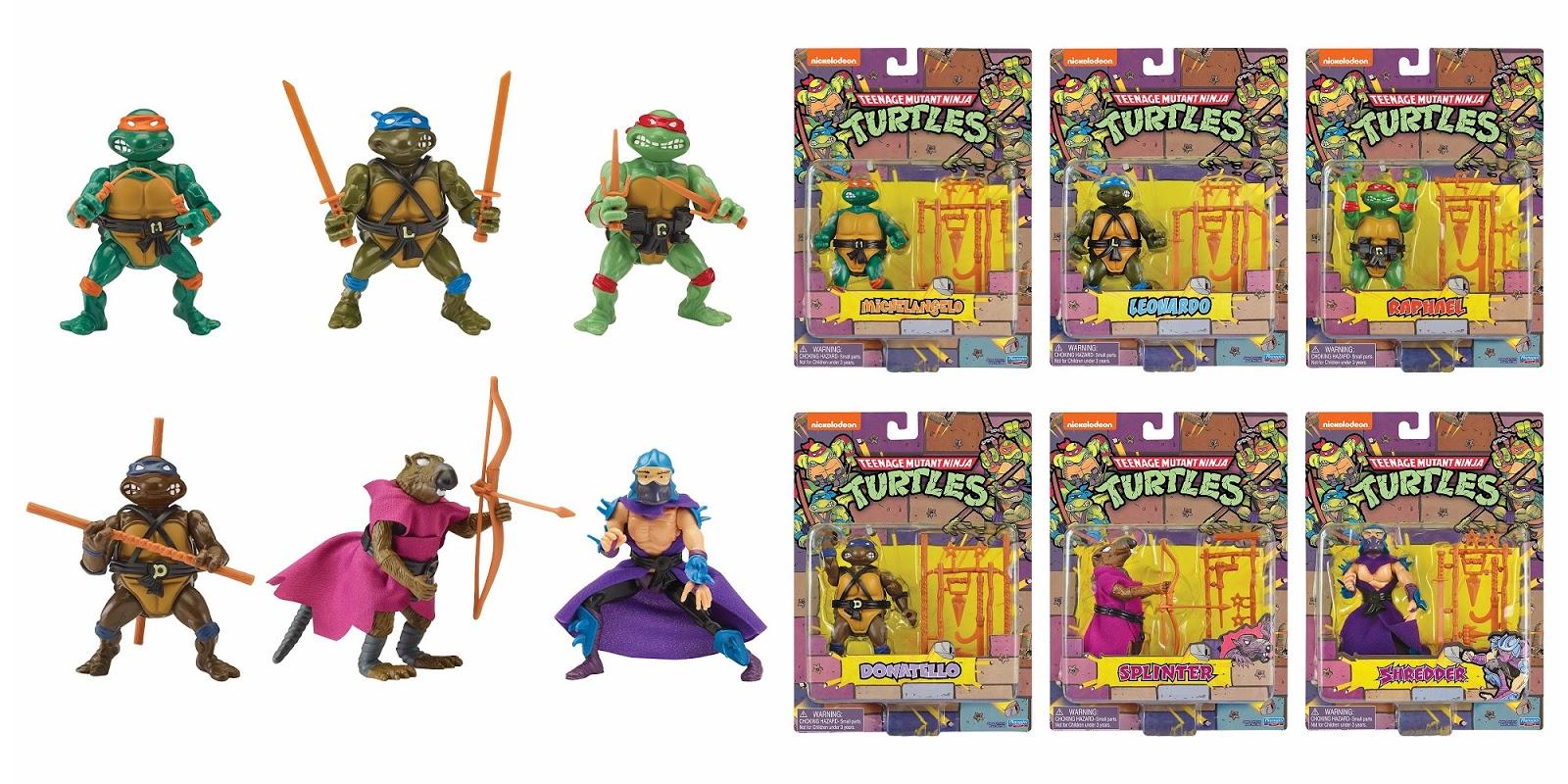 The Blot Says Sdcc 2020 Exclusive Teenage Mutant Ninja Turtles Retro Rotocast Action Figure Set By Playmates