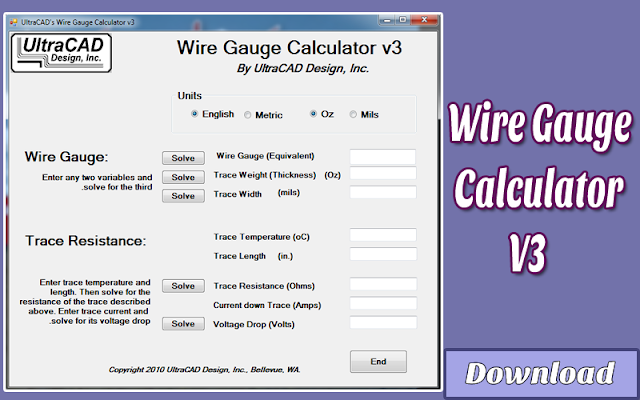 Download Wire Gauge Calculator V3 | Kalkulator / Info & Softwares Elektronika