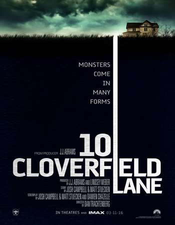 Poster Of 10 Cloverfield Lane 2016 English 700MB Cam ESubs Free Download Watch Online