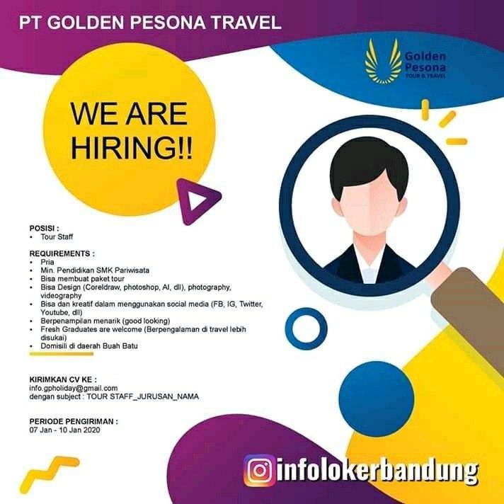 Lowongan Kerja PT Golden Pesona Travel Bandung Januari 2020