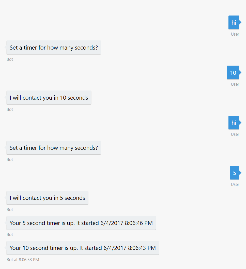 Shamir Charania: Azure Bot Service: A basic timer bot