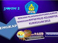Contoh RKM/RPPM PAUD Kelompok A dan Kelompok B Semester 2 Lengkap Kurikulum 2013