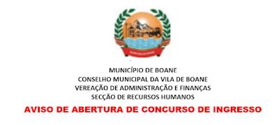 VAGAS DE EMPREGO NO CONSELHO MUNICIPAL DE BOANE: Confira As Listas Dos Candidatos Apurados