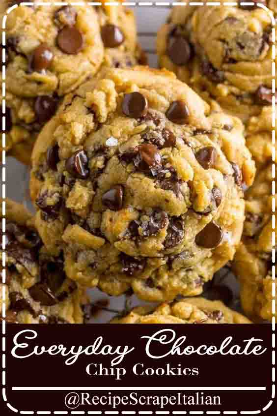Everyday Chocolate Chip Cookies #chocolate #cookies #delicious