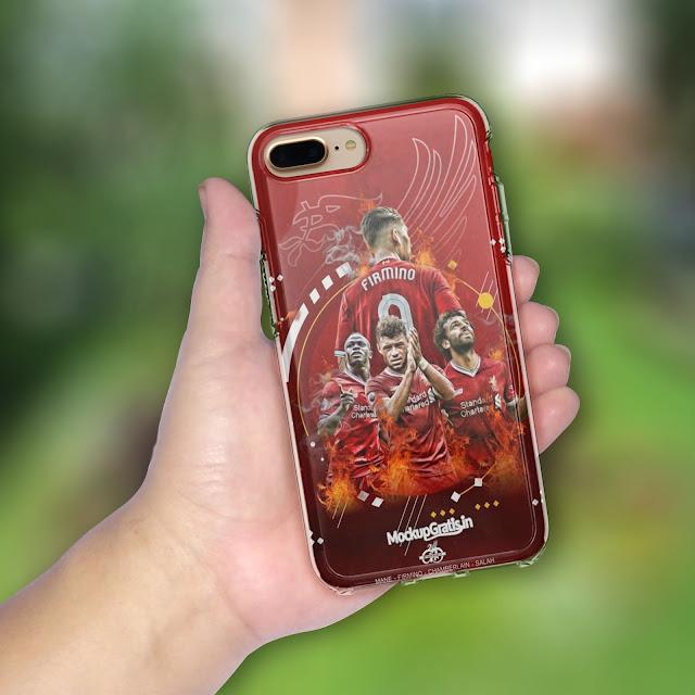 Mockup Gratis Softcase iPhone 7 Plus / 8 Plus Transparan