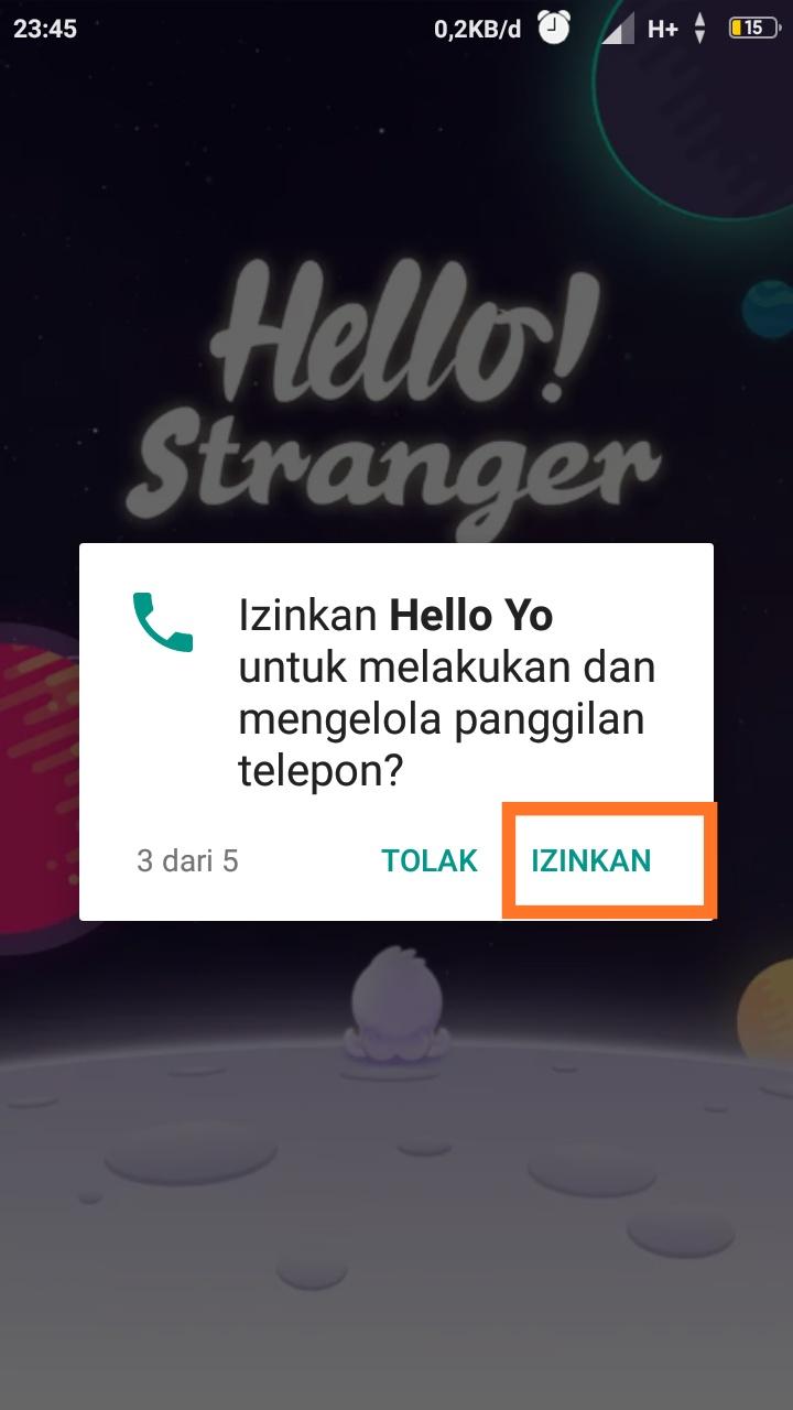 aplikasi hello yo adalah