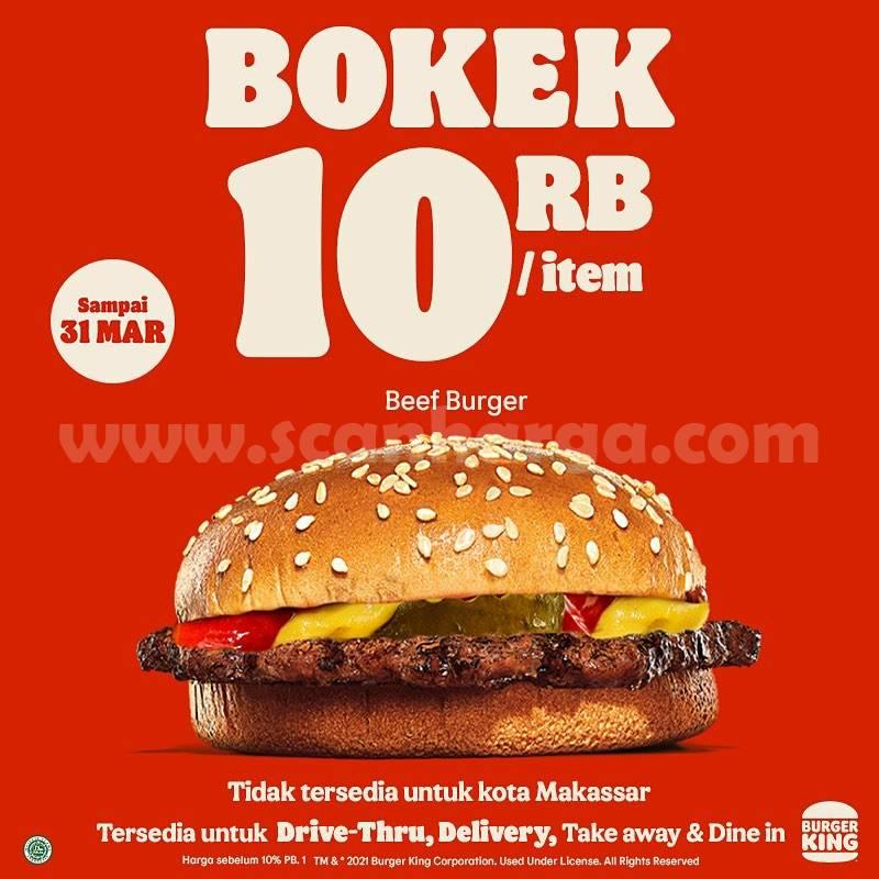 BURGER KING Promo MENU BOKEK - Paket Rp 10.000