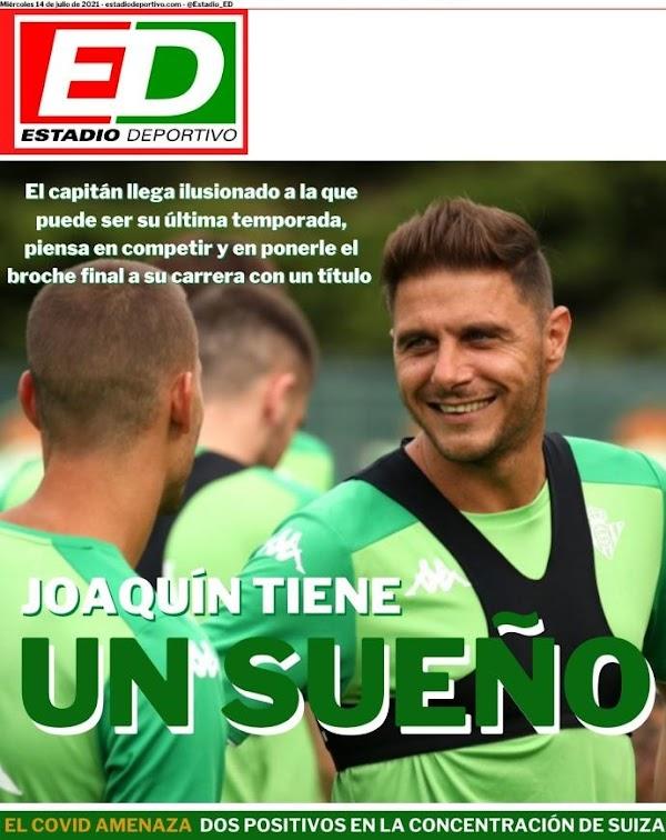 """Betis, Estadio Deportivo: """"Joaquín tiene un sueño"""""""